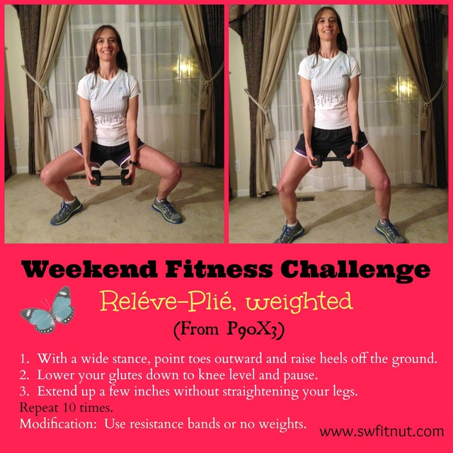 Weekend Challenge ~ Releve Plie